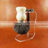 Wholesales Badger Hair Beard Brush,Shaving Brush OEM with Stone Handle Private Label Free Sample