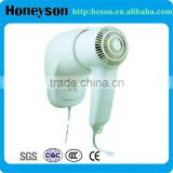 Hotel room professional wall mounted portable hair dryer hotel 1200w wall mounting 110V hair dryer