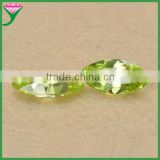 China Wholesale marquise man made apple green loose colored cubic zirconias stone
