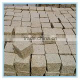 Yellow granite cobblestone driveway pavers for sale