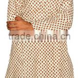 Cotton Jaipuri Sanganeri Block Printed Gents Long Kurta