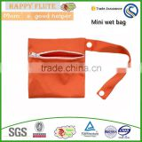 Happy flute mini wetbag Polyester Material Diaper Wet Bag pul fabric waterproof resuable private label wholesale market
