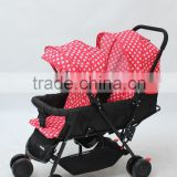 EN1888 certificate folding double stroller, baby stroller for twins