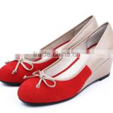 Aviva low heel round pump shoes wedge heel casual shoe