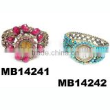 fashion ladies crystal bangle flower bracelet wrist watch woman