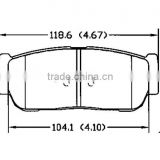 D954 58302-3EU00 for Kia Hyundai rear good brake pads