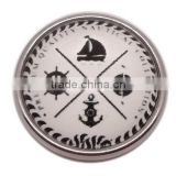 2015 woman jewelry Snap button charms, anchor snap charm for bracelet jewelry, nautical button charm