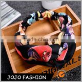 Factory Outlet Korean Silk Flower Stretch Hair Band Hair Accessory
