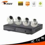 Poe nvr kit with mini dome ip camera 4ch full hd 1080p video surveillance kit