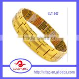Gold plated pure titanium magnetic bracelet made in japan