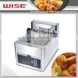 WISE Kitchen Stainless Steel Automatic Basket Lift Potato Chip Fryer 12L Kitchen Equipment