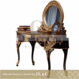 AB03-34 Neoclassic Oval Mirror Dresser Mirror Delicate Sculpture for Luxury Bedroom Sets-JLC Luxury Home Furniture