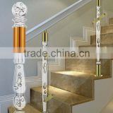 Buy luxury arcylic stair balustrade / crystal glass stair handrail /clear acrylic stair pilla for hotle office                                                                         Quality Choice