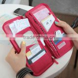 2015 fashion Multi-function passport bag with more Card position air ticket bag for travel FW16045