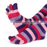 cotton custom half tube five open 5 pink toe candy socks