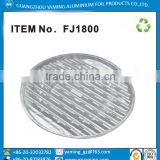 foil containers round BBQ aluminium foill tray ecofriendly material barbeque grill tray fj1800