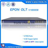 1U 19 inch FTTH 2 PON Ports 2 SFP GEPON OLT with 1:64 Splitting Ratio Supported 128 EPON ONUs