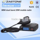 New launch MINI mobile radio BAOJIE BJ-218 25W powerful mini dual band moblie radio transceiver