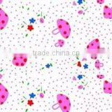 Lots stock cotton printing flannel fabric for baby bedsheet