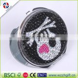 bling rhinestone Mini Beauty pocket mirror,stainless steel frame,makeup compact mirror