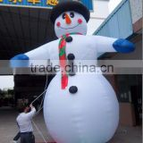 Innovative special inflatable snowman with hat