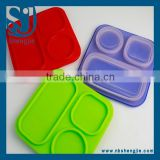 Trade Assurance FDA,LFGB Silicone Lunch box,colorful foldable storage box,Sedex Audit factory