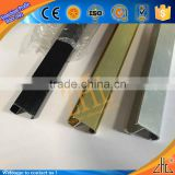 Hot aluminium profile panel photo frame manufacture, 6063 gold brushed aluminum profile frame