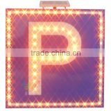 Car safety solar powered traffic warning international LED parking sign on sale