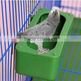 Bird Food Feeding Dish Water Feeder Bowl with Holder Hook For Parrot