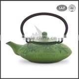 bamboo chinese cast iron teapot