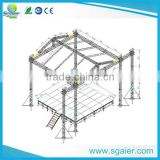 Sgaier truss design with PA wings for hanging line array speaker 9mx9mx9m