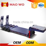 Factory director heavy machine transport trailer, 20ft flatbed semi trailer and 40ft 3 axle low bed semi trailer