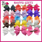 Hot sale beautiful Grosgrain Ribbon kids hair clips bows kids hair clips