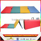 "Mixed 4'x10'x2"" Thick Folding Panel Gymnastics Mat Gym Fitness Exercise Mat"