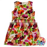 Summer Bow Dress Flower Patterns Designs 0-6 years Teenage Girls Sleeveless Flower Baby Girl Net Dresses