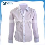 Ladies office uniform designs for women long sleeve formal shirt China supplier
