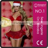 2015 Sunspice Adult christmas costume mini skirt for women christmas costume sexy christmas costume