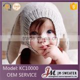 Ins hot imitate animal knitted cap design for kids baby bunny ears hats wholesale