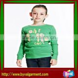 Wholesale children's clothes/Fashion pullover printed fleece sweatshirt, pullover hoodie without hood