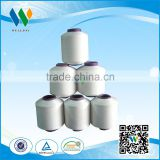 Yizheng best staple fiber yarn 100%polyester spun yarn sewing thread raw white