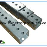 Telescopic Perforated square sign post