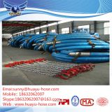 Rotary drilling hose with lift eyes for safe handling
