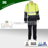 petroleum worker breathable cotton Hi vis fire retardant waterproof coveralls with reflective tapes