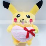 HI CE cute movie character pikachu plush toy for kids,cartoon character pikachu for children birthday party gift