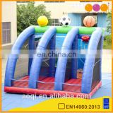 Much fun inflatable football Goals shot soccer wall for sale