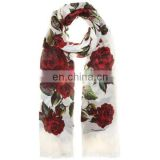 rose printed cotton custom scarves