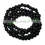 Real Ebony Wood Beads String (mala) made of fine quality handmade 10mm round black wood beads