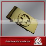 Hot Selling OEM Wholesale Stock Item Inidividual Package Type High Grade Custom Logo Business Souvenir Gold Brass Clip