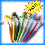 animal head flexible pen