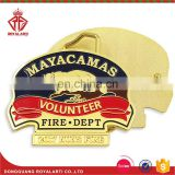 Custom Shiny Gold Volunteer Belt Buckle for Nuns Fire Dept.